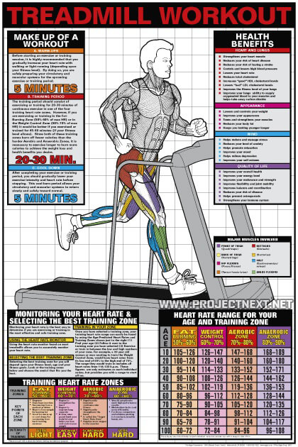 Treadmill Workout - Cardio Fat Burning Sixpack Abs Exercise