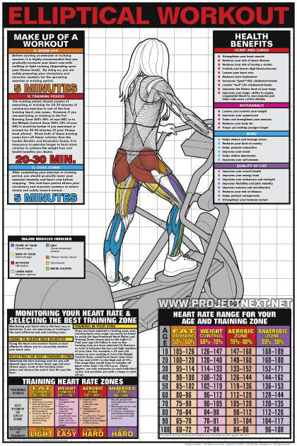 Elliptical Workout - Cardio Fat Burning Sixpack Abs Exercise