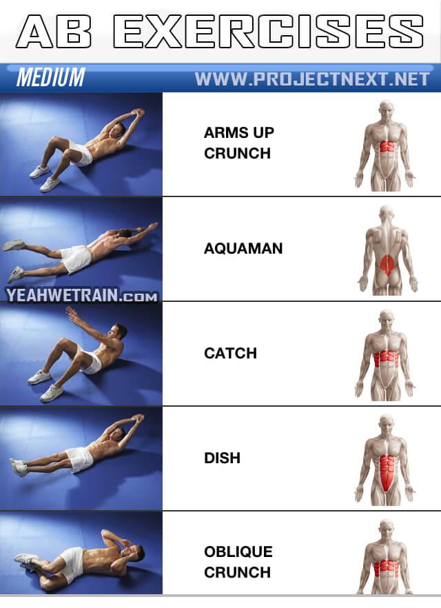 Sixpack Workout MEDIUM Part 1 - Ab Abdominal Crunch ...