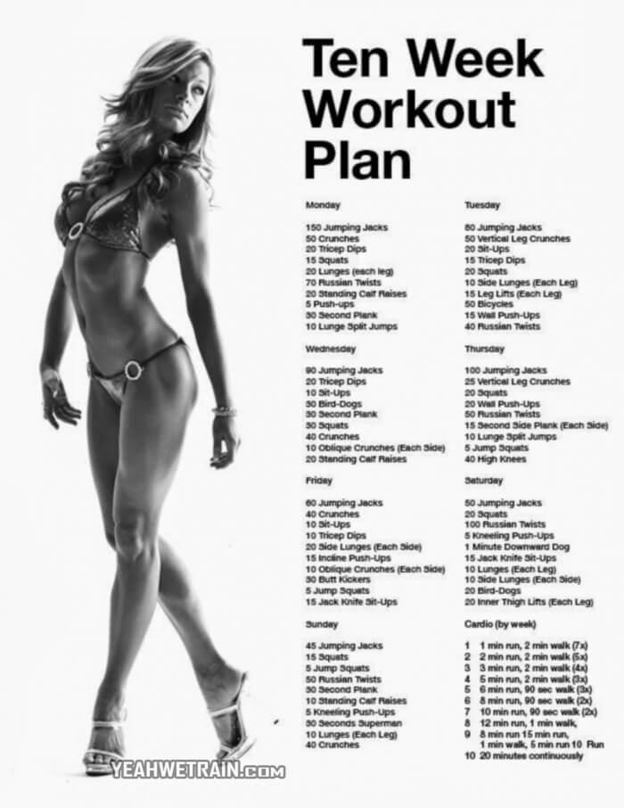 10 Week Workout Plan For Women