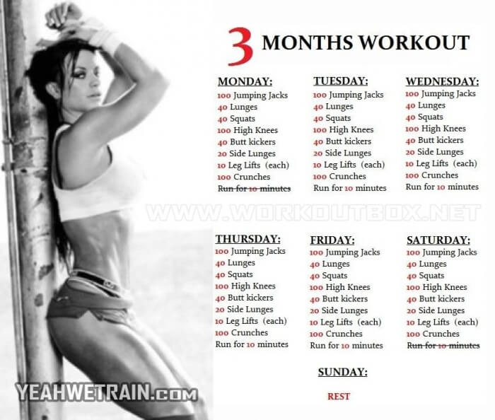3 Months Workout Plan for Women - Sixpack Butt Legs Exercises Ab