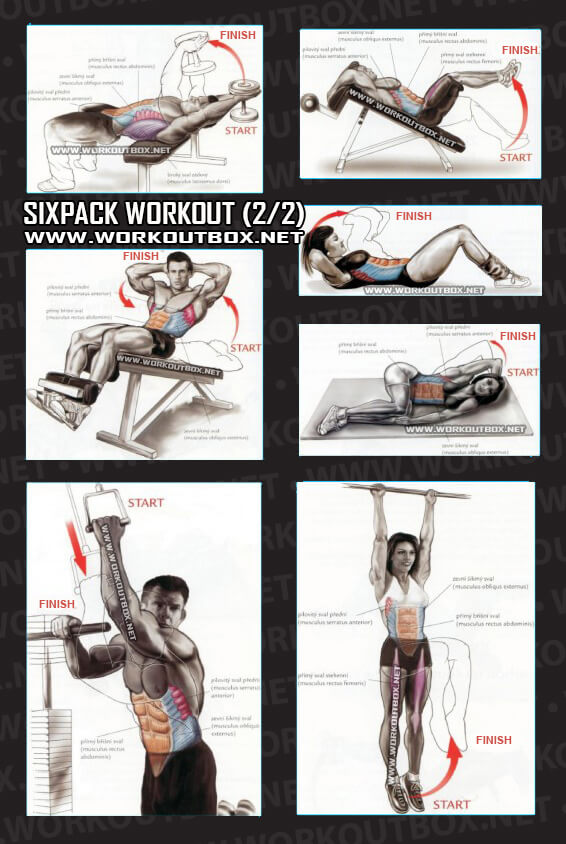 Sixpack Workout Part 1 - Healthy Fitness Exercises Gym Low ...