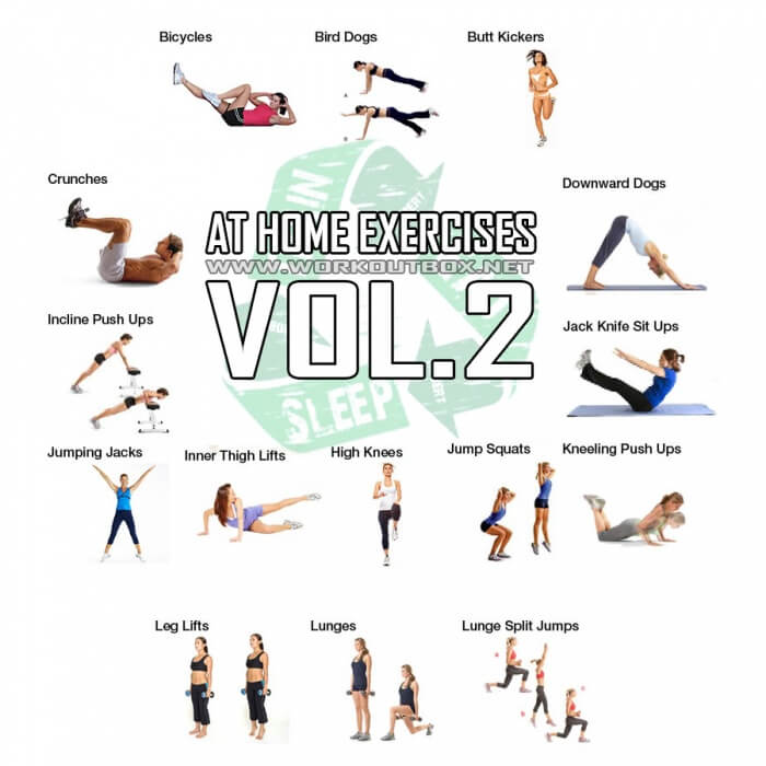 At Home Exercises Vol 2 Full Body Workout Healthy