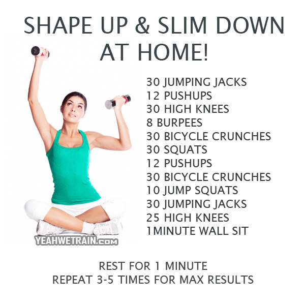 Shape Up Slim Down At Home Healthy Fitness Workout Sixpack