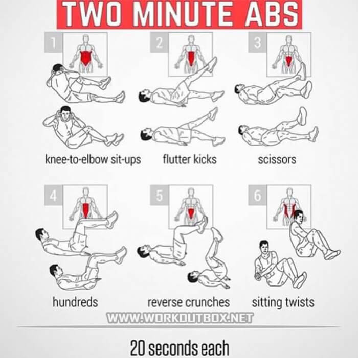 Exercise desk chair - 2 Minute Abs Training Healthy Sixpack Workout Strong Ab