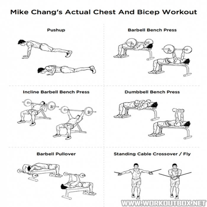 Mike Changs Actual Chest And Bicep Workout Health Training Tip