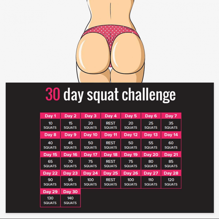 Join the 30 Day #Squat Challenge! Fit Body Sexy Butt Workout