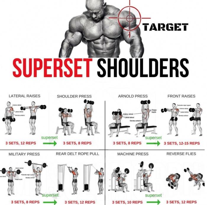 Superset Shoulders! Best Shoulder Workout Plan 2018 - Yeah